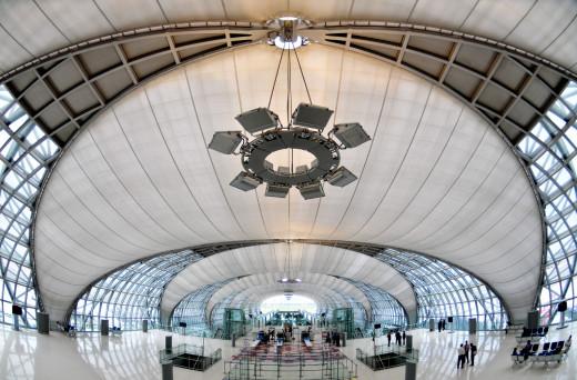 Suvarnabhumi Airport in Bangkok,Thailand
