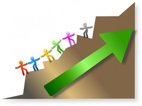 Leadership Motivational Business Climb Climbing/ OpenClips