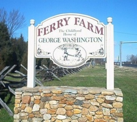 Ferry Farm, boyhood home of George Washington. Fredericksburg, VA.