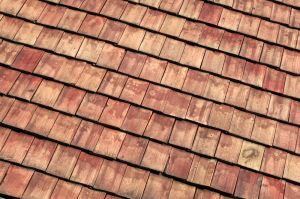 The roof was finished off with wooden shingles