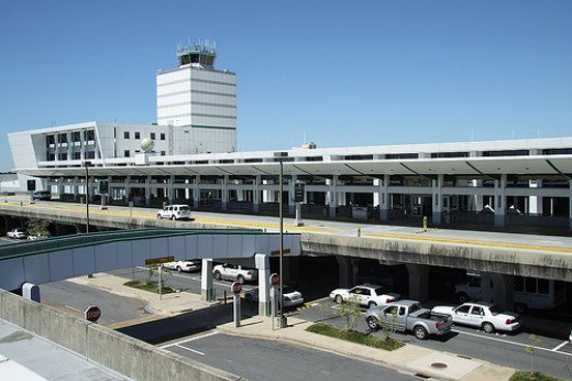 Outside Jackson International Airport in Port Moresby