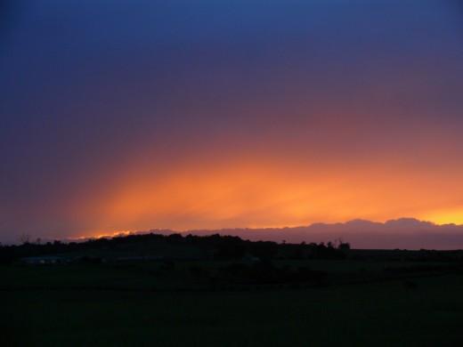 Sunrise over Denstone