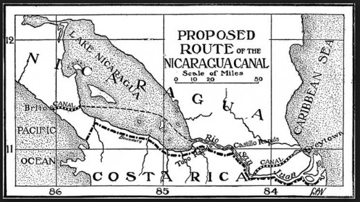 The US plan for a canal in 1902