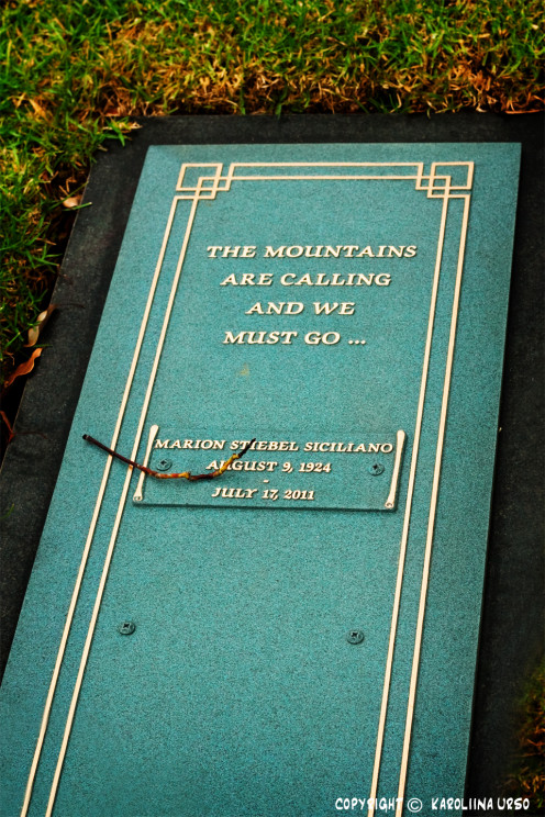 John Muir's quote displaying on a gravestone in LA.