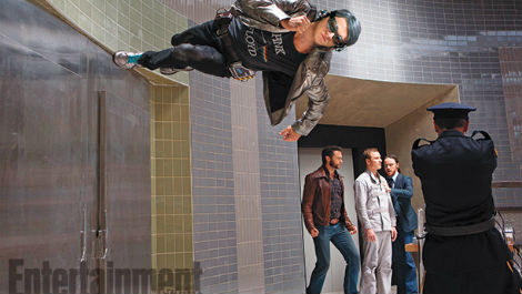 Quicksilver stole the show during his brief appearance.