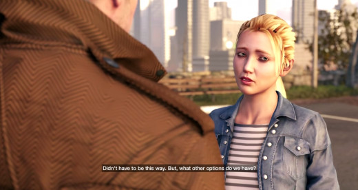 Aiden and Nicky say goodbye during the Ghosts of the Past mission in Watch_Dogs.