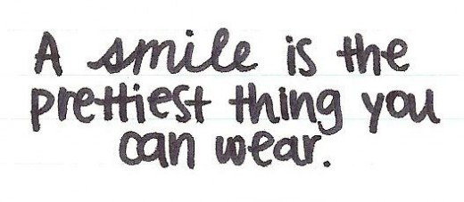 Smile is the simplest makeup you can wear