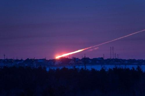 Cell Phone Image of Russian Fireball