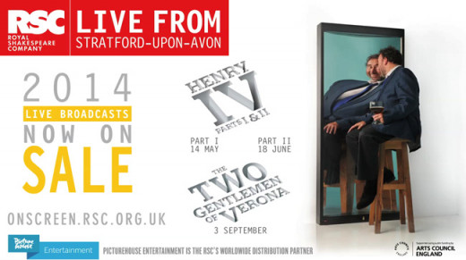 A poster advertising both parts of Henry IV and their follow up production of Two Gentlemen of Verona. Pictured is Sir Antony Sher, who plays Sir John Falstaff, one of the bard's greatest comedic creations.