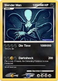 Slender Man as a pokemon card game character