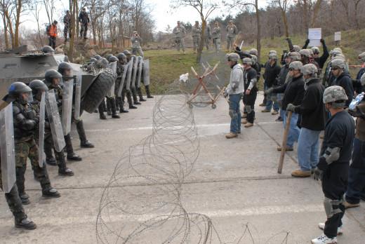Une émeute.