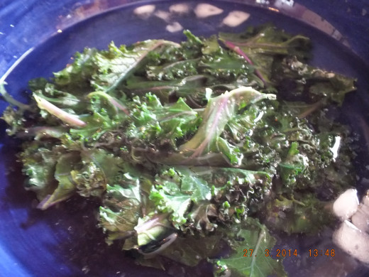 Dropping your lightly cooked greens in an ice bath stops the cooking process and helps retain the beautiful color.