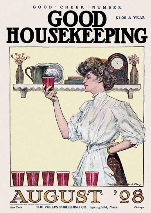 "A cover of ""Good Housekeeping"" magazine, 1908"