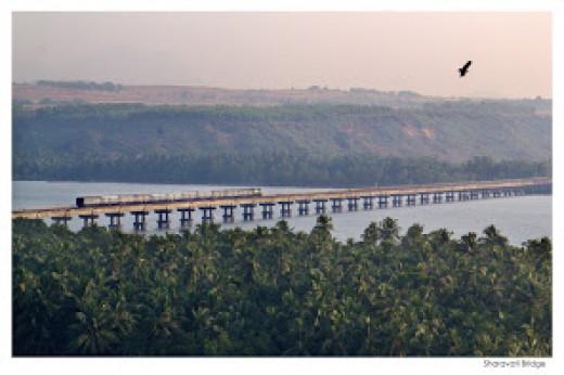 Sharavati Bridge.  Enjoy the breathtaking panorama around.