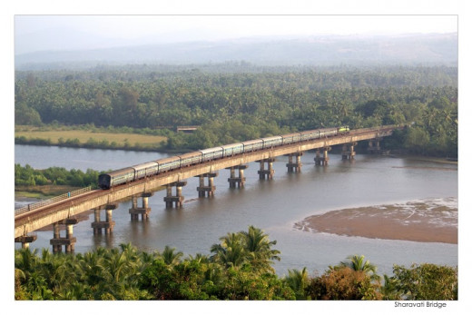 Sharavati Bridge.
