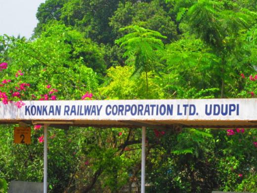 Uduppi Station. Alight here to visit the famous Sri Krishna Temple