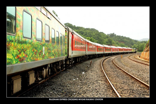 Rajdhani Express, a fully air-conditioned train.