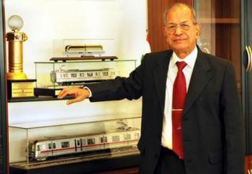 E. Sreedharan, the master brain behind the Konkan Railway.