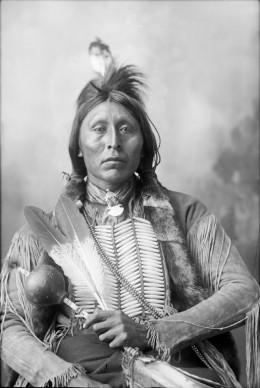 Ah-Keah-Boat-(Two-Hatchet), a Kiowa Nation man in 1898