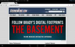 Stephen King's website.