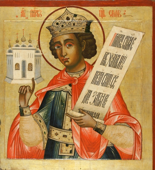 King-Solomon-Russian-iconPublic Domainview  King Solomon. He is depicted holding a model of the Temple (18th century, iconostasis of Kizhi monastery, 18 century icon painter - Iconostasis of Kizhi monastery, Russia