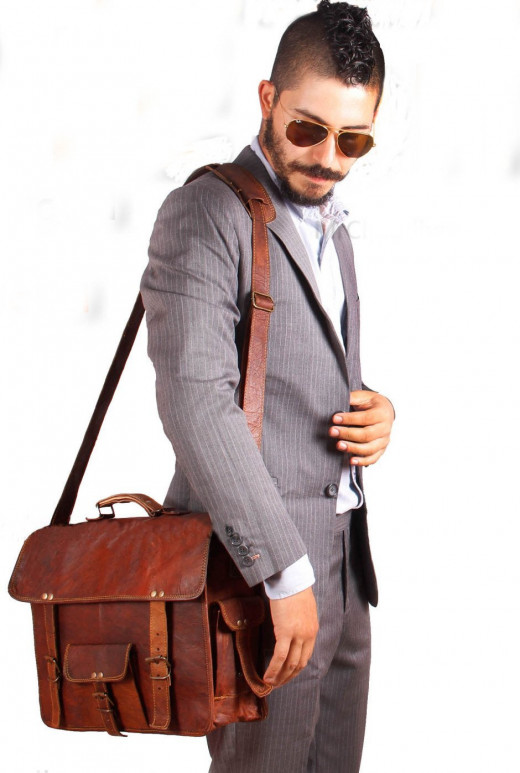 Handmadecart Leather Messenger Satchel Shoulder Laptop Bags for Men and 11 13 and 15 Inch Macbook and Laptops