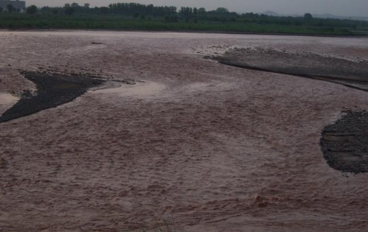 Ghaggar River at present in monsoons.