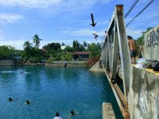 This is the river  near the bridge in in the heart of Cagayan De Oro City in my childhood