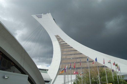 Olympic tower in Montreal, Canada