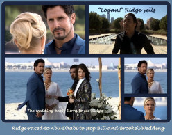 The Bold and the Beautiful:  Ridge stops Bill and Brooke's Wedding  and Disappears into the Persian Gulf