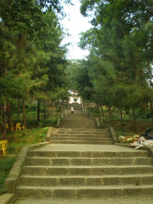 The path leading up to the temple complex
