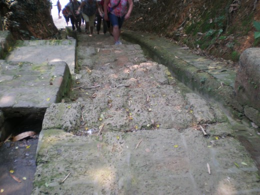 The steps leading to the temple complex