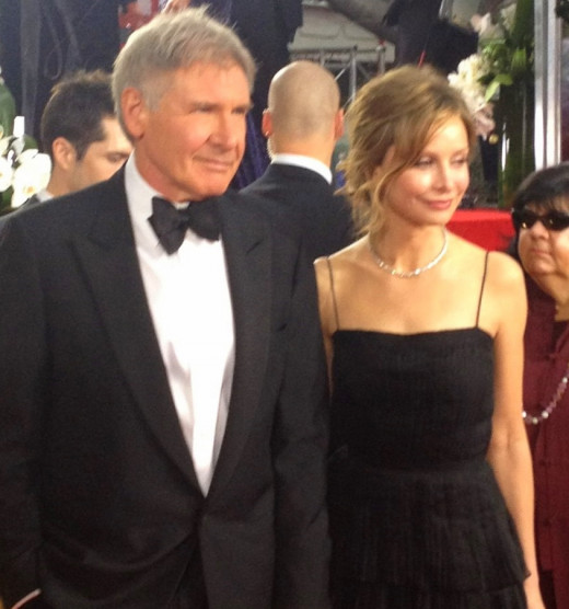 Harrison Ford and his wife Calista Flockhart in 2012