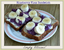 The BlueBerry Flax Breakfast Sandwich
