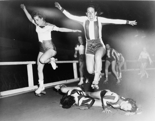 Early American roller derby.