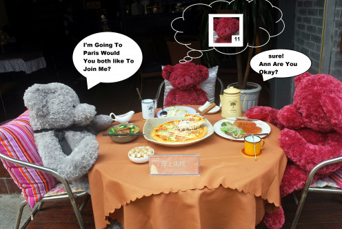 Bear Teddy Stuffed Animal Dinning Restaurant