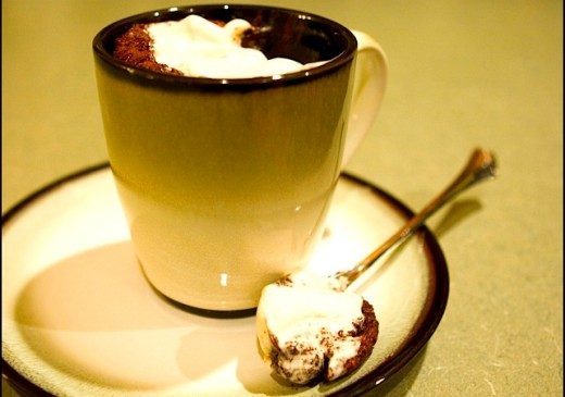 Cake In A Mug Recipes No Egg: Chocolate-Chocolate Chip Cake In A Cup
