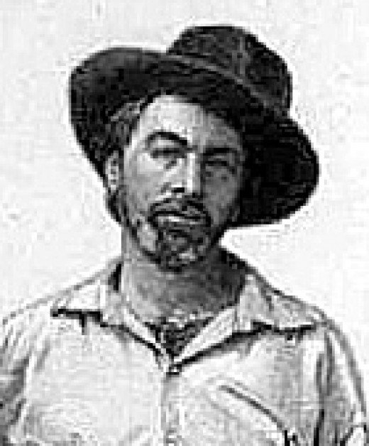Walt Whitman in his mid 30s