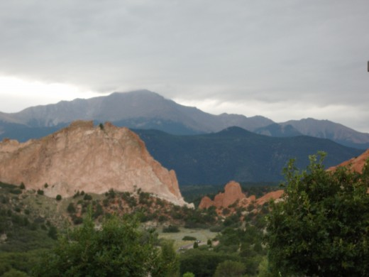 Garden of the Gods is a red sandstone canyon