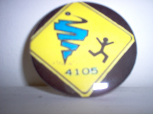 Glen Allen High School participated in Robotics Team competitions, where students learned about technology and teamwork.  This was one of the buttons they used over the last few years.