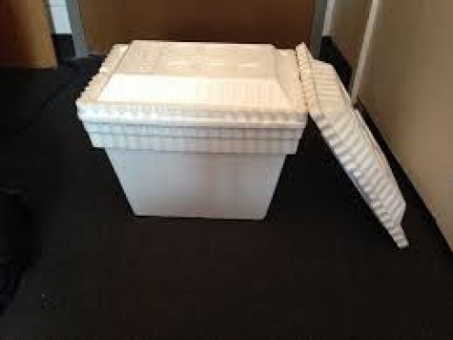 Styrofoam coolers hold ice solid and keep things cold all day such as food and drinks. Also,another styrofoam cooler could be used to store and keep fish fresh that you catch early in the day.