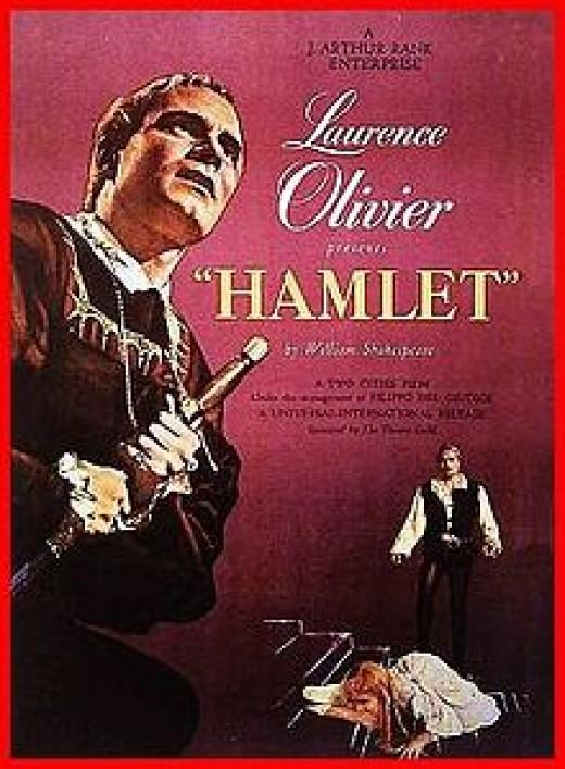 The original poster for Olivier's Hamlet.