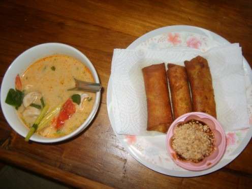 The delcious food we made was worth it!  I recommend the Phad Thai Cooking School as the owner is a scream and keeps you entertained.