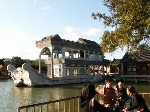 Summer Palace - a marble boat