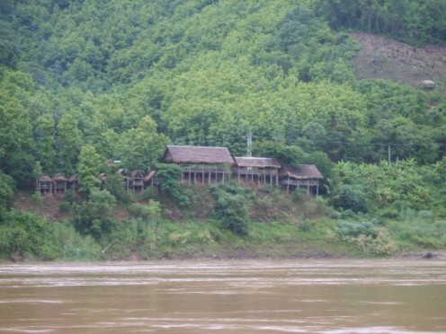 Houses along the Mekong