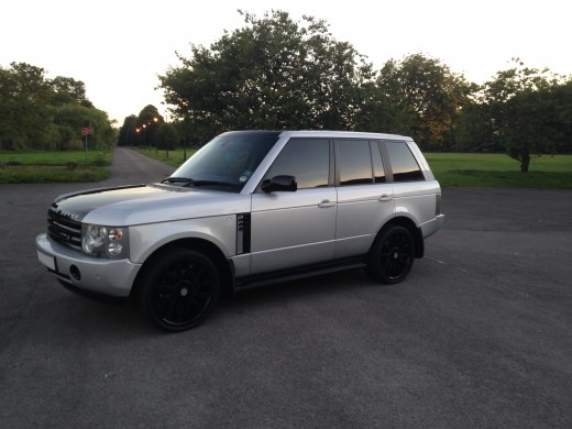 "Range Rover with 22"" wheels."