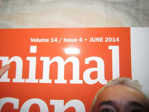 Date of issue when my article came out. You can see Cesar Milan's eyebrows. He was the cover story for this issue, as he had recently visited the Philippines.