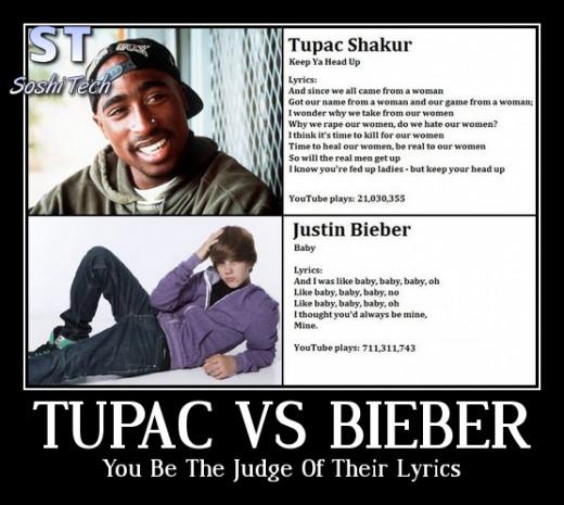 Tupac vs Bieber