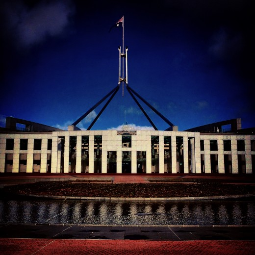 Front side of the Australian Parliament House