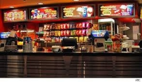 The concession stand has snacks, drinks and even entire meals for customers to munch on while bowling. The sitting area is large and comfortable.